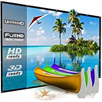 120 Inch Portable Projector Screen Outdoor, YF2009 Folding Movie Screen 16:9 - for Camping/Indoor Home Theater/Education/Office Presentation