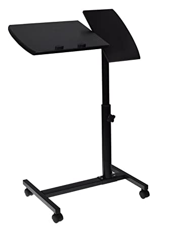 small rolling office table furniture adjustable laptop desk stand tray hospital bed depot