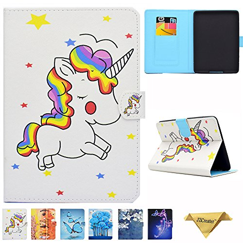 Kindle Paperwhite Case - JZCreater Folio PU Leather Case Cover with Auto Wake/Sleep for All-New Amazon Kindle Paperwhite (Fits 2012 2013 2015 and 2016 All-new 300 PPI Versions), Unicorn