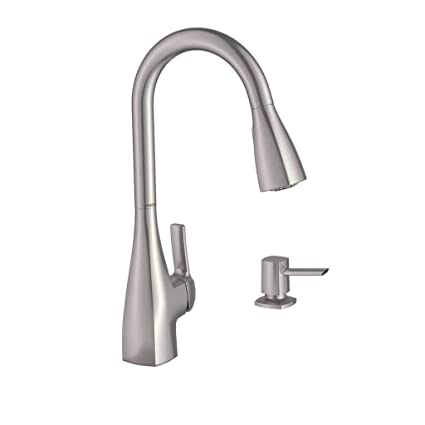 Moen 87599SRS Kiran 1 Handle Pulldown Kitchen Faucet, Spot Resist Stainless