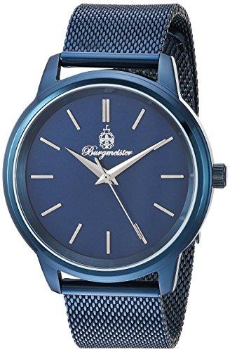 Burgmeister Women's Quartz Stainless Steel Casual Watch, Color:Black (Model: BMS02-033)