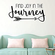 Motivational Wall Decal - Find Joy In The Journey With Arrow Design - Inspirational Vinyl Art for Home, Bedroom or Living Room Decor