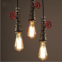 Injuicy Lighting Metal Water Pipe Edison Industrial Vintage Droplight Ceiling Lamp 1-pendant Loft Cafe