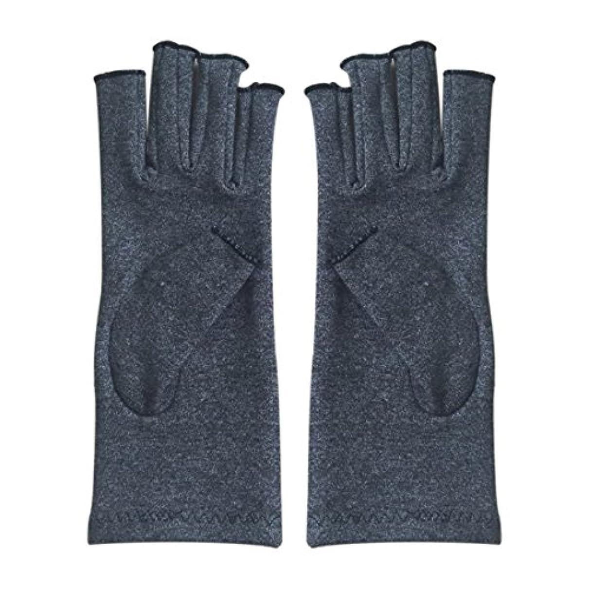 スラッシュトランジスタ鉄CUHAWUDBA 1ペア成人男性女性用弾性コットンコンプレッション手袋手関節炎関節痛鎮痛軽減M - 灰色、M