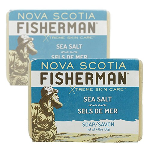 - Nova Scotia Fisherman - Hand Poured Soap, with Organic Shea Butter and Nova Scotia Sea Kelp, Cruelty-Free, Vegan Friendly, No Artificial Ingredients, Plant-Based Body Care (Sea Salt, 4.8 oz, Pack of 2