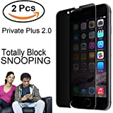 [2018 New Ver.] For iPhone 7 Plus/ 8 Plus, Marval.P Privacy Tempered Glass Screen Protector, 9H Plus Hardness with 2.5D Curve Edge, More Clear & Block Snapping, Anti Spy, Case Friendly, Easy Install