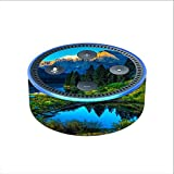 Skin Decal Vinyl Wrap for Amazon Echo Dot 2 (2nd generation) / Mountain Lake