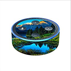 Skin Decal Vinyl Wrap for Amazon Echo Dot 2 (2nd generation) / Mountain Lake