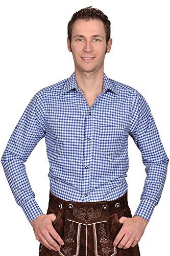 Trachten Herren Hemd blau weiß kariert Gr XXXL