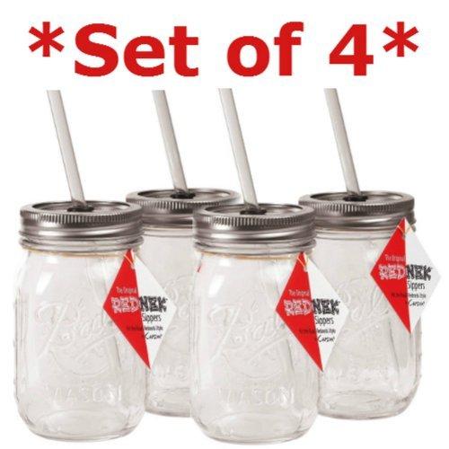 Rednek Sipper Drinking Jar Acrylic 16 Oz Set Of 2 Dw Safe Boxed by Carson