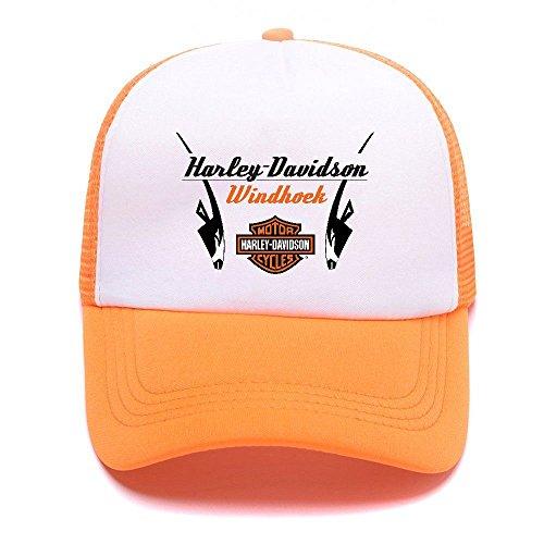 Women Girl D Baseball Mesh 011 Harley béisbol Gorras Boy de Men Trucker Hat Cap For Black Orange Caps ZqdnOd