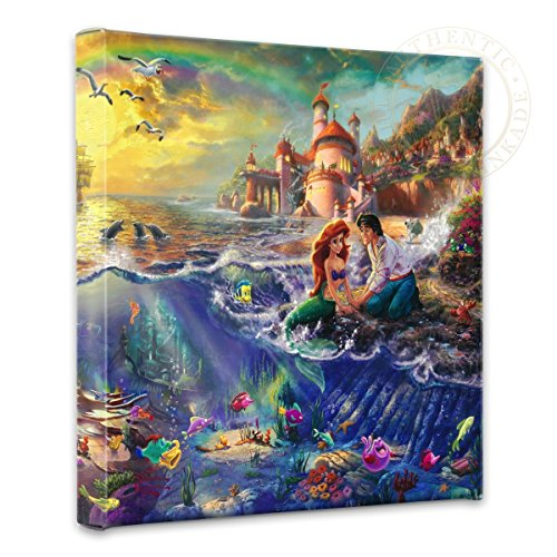 Thomas Kinkade Little Mermaid Gallery Wrap Canvas (Princess Wall Canvas Hanging)
