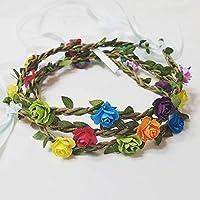Boho Rainbow flower headband, rainbow hairband, pride, rainbow crown, floral headband, flower crown, hair crown, fairy Crown, hippie, gypsy