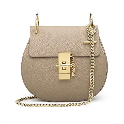 Sacs bandoulière Petits sacs carrés en cuir beige