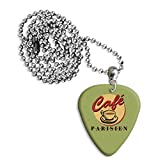Paris Cafe Martin Wiscombe Guitar Pick Necklace Vintage - Best Reviews Guide