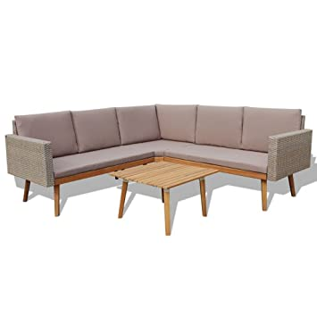 Amazon.com: Heavens Tvcz Juego de sofá de jardín, 13 piezas ...