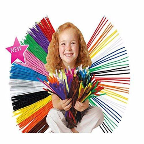 100PCS Kids Child Plush Sticks DIY Shilly Handmade Art Toy ➪Laimeng
