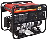 5000 Watt Portable Generator - Mi-T-M GEN-5000-0MS0 Portable Generator with 287cc Subaru OHC engine, 5000W, Red/Black