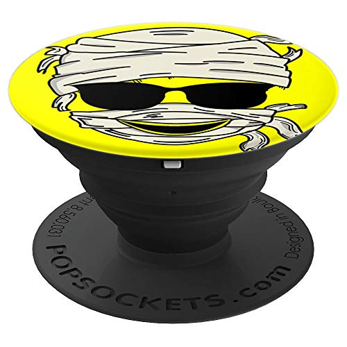 Mummy Smiling Face Sunglasses Emoji Smiley Christmas Gift PopSockets Grip and Stand for Phones and ()