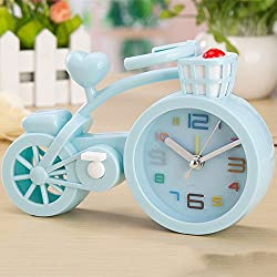 XENO-Creative Bicycle Model Alarm Clock Wake up Timer Home Décor Room Ornament Gift(blue)