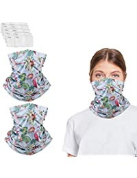 Neck Gaiter with Filters for Men Women, Face Flamingos Magical Multi Funtion, Bandana, Mask Half Face Protective Washable Reusable, Infinity Scarf, Headwear For Hikin, Fishing, Softball, Fisherman