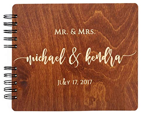 (Wooden Wedding Guest Book (8.5