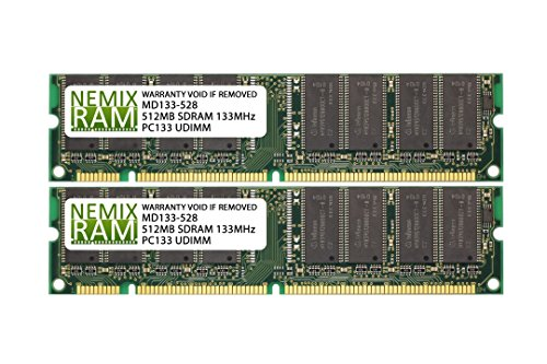 1GB (2 X 512MB) SDRAM Memory RAM PC133 168-pin DIMM for Desktop PC Computer (Pc133 Dimm 168 Memory Pin)