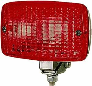 HELLA 2NE 002 985,001 Piloto antiniebla posterior , 12V , montaje exterior , Color de tulipa: rojo , Conector: Conector plano , posterioryizquierda y ...