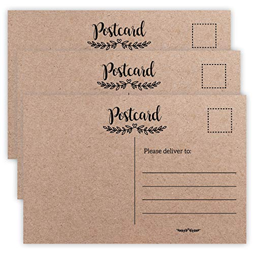 50 Blank Postcards, Self Mailer Mailing Side Postcards for Printing Mailing Painting for Kids Art, Crafts Voter, Christmas, Flip Side Is Plain White and Unused.(4 x 6 Inches)