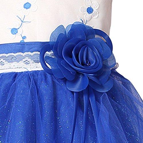 Blu Tulle Principessa Corpetto Ragazze In Da Compleanno Weixinbuy Maniche Spettacolo Abito RHvxUq