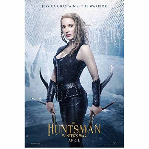 The Huntsman: Winter's War (2016) 8 Inch x10 Inch Photo Jessica Chastain Black Leather Outfit