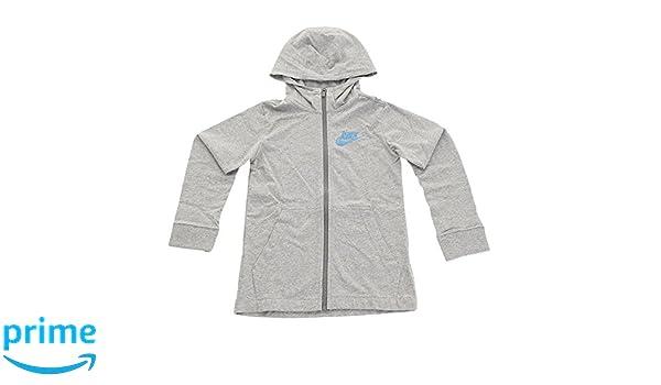 7cd697240 Amazon.com: Nike Boys Lightweight Cotton Hoodie Athletic Shirt Full Zip (M  10/12) Gray: Clothing