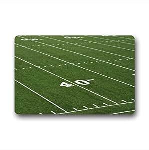 """Personalizado increíble verde campo de fútbol patrón–Alfombra de interior/al aire libre Felpudo felpudos, 23.6""""(L) X 15,7(W)"""