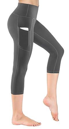 2d049ab8508648 HOFI Women's High Waist Cropped Yoga Pants with Side Pockets & Inner Pocket  .
