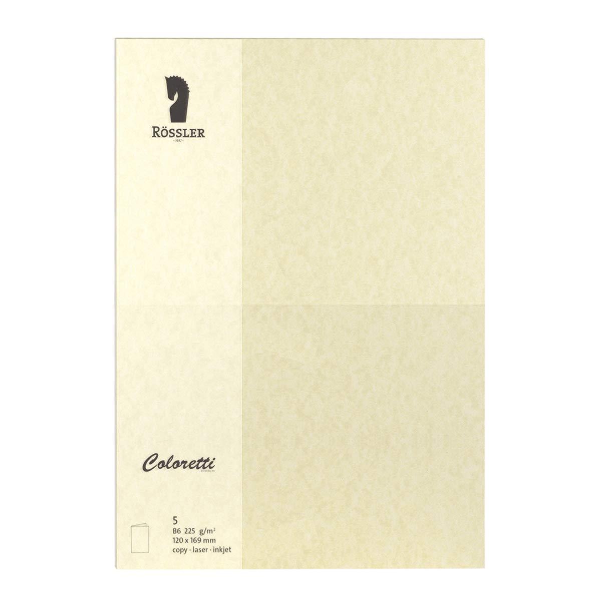 (saharabrown)  Rossler colorTTI Card 220 g m2, DIN Lang, Pack of 5) saharabrown
