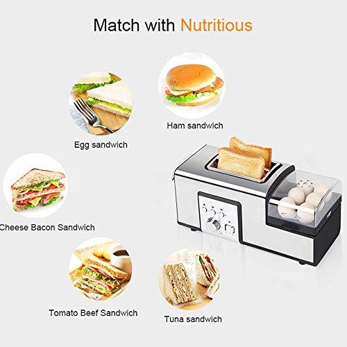 XUE De Acero Inoxidable eléctrica Tostador Sandwich ...
