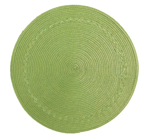 Kay Dee Placemat (Kay Dee Designs Round Braided Placemat, Green, Set of)