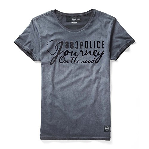 Navy Print Graphic Police shirt T 883 Chance xtwR6qEtY