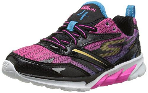 Skechers Kids 80653L Go Run 4 Running Shoe,Black/Multi,13 M US Little Kid