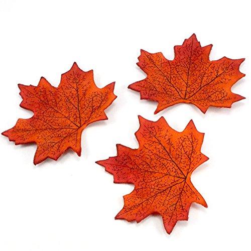 8cm Dejean 300 PCS Artificial Maple Leaves Multi Colors Autumn For Weddings Events and Outdoor Maple Leaf Decoration
