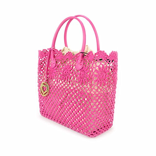 Borsa donna Shopping TWIN-SET in macramè - AS67DS Fucsia Echinacea