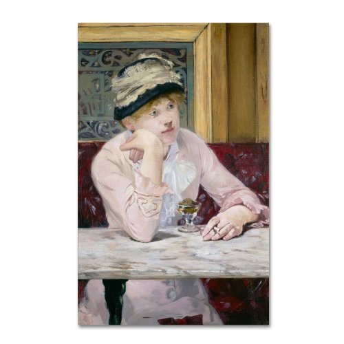 - Plum Brandy 1877 Artwork by Edouard Manet, 30 by 47-Inch Canvas Wall Art