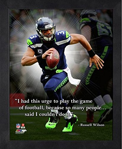 Russell Wilson Seattle Seahawks Pro Quotes Photo  Framed