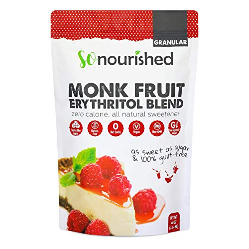 Granular Monk Fruit Sweetener with Erythritol (2.5 lb / 40 oz) - Perfect for Diabetics and Low Carb Dieters - 1:1 Sugar Replacement - No Calorie Sweetener, Non-GMO, Natural Sugar Substitute (Best Natural Sugar Substitute For Diabetics)