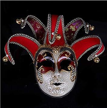 Máscara de Disfraces de Halloween Máscara Apenada Agrietada ...