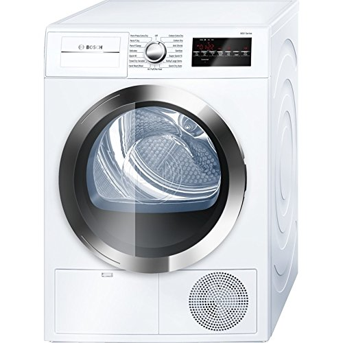 Bosch WTG86402UC800 4.0 Cu. Ft. White Stackable Electric Dryer – Energy Star