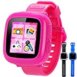 GBD Game Smart Watch Kids Children Boys Girls Gift Travel Camping Camera 1.5'' Touch 10 Games Pedometer Timer Alarm Clock Learning Toys Wrist Watch Bracelet Health Monitor Summer Vacation