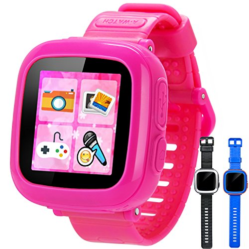 GBD Game Smart Watch for Kids Girls Boys with Camera 1.5'' Touch 10 Games Pedometer Timer Alarm Clock Learning Toys Wrist Watch Bracelet Health Monitor for Halloween Christmas Birthday Gifts (Pink) - Princess Memory