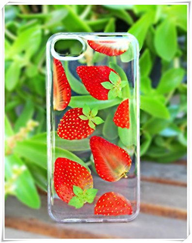 One Life ,one jewerly iphone5/se/5s,Pressed Dried Strawberries on iPhone, Soft Silicone Phone Case,(What Type of Mobile Phone Shell is Needed? Leave a Message for - Phone Case Cell Strawberry