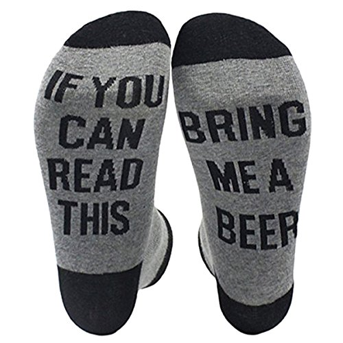 NDLBS Unisex Cotton Socks If You Can Red This Bring Me A Beer for Men Women